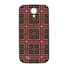 Check Ornate Pattern Samsung Galaxy S4 I9500/i9505  Hardshell Back Case by dflcprints