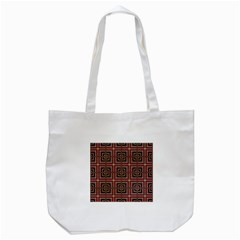Check Ornate Pattern Tote Bag (white)  by dflcprints