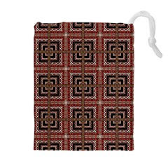 Check Ornate Pattern Drawstring Pouches (Extra Large) by dflcprints