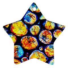 Woodpile Abstract Ornament (star)  by Costasonlineshop