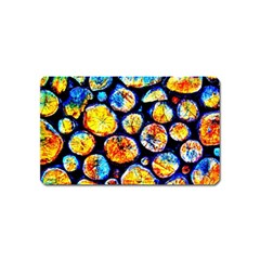 Woodpile Abstract Magnet (name Card) by Costasonlineshop