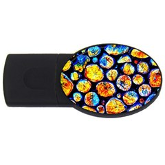 Woodpile Abstract Usb Flash Drive Oval (4 Gb)  by Costasonlineshop