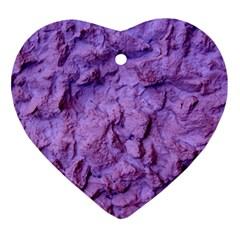 Purple Wall Background Ornament (heart)  by Costasonlineshop