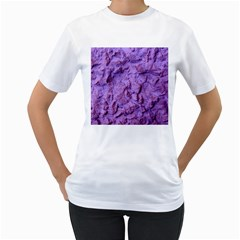 Purple Wall Background Women s T Shirt (white) (two Sided) by Costasonlineshop