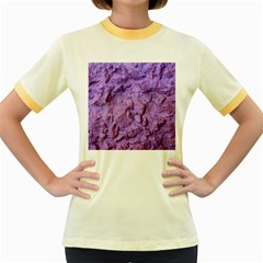 Purple Wall Background Women s Fitted Ringer T Shirts by Costasonlineshop