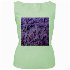 Purple Wall Background Women s Green Tank Tops by Costasonlineshop