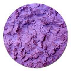 Purple Wall Background Magnet 5  (round) by Costasonlineshop