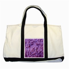 Purple Wall Background Two Tone Tote Bag  by Costasonlineshop