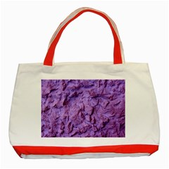 Purple Wall Background Classic Tote Bag (red)  by Costasonlineshop