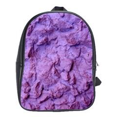 Purple Wall Background School Bags(large)  by Costasonlineshop