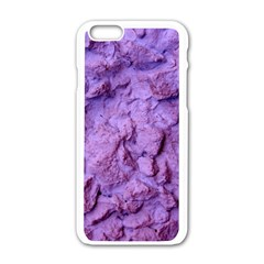 Purple Wall Background Apple Iphone 6/6s White Enamel Case by Costasonlineshop