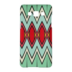 Rhombus And Chevrons Patternsamsung Galaxy A5 Hardshell Case by LalyLauraFLM
