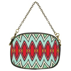 Rhombus And Chevrons Pattern chain Purse (two Sides) by LalyLauraFLM