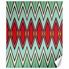 Rhombus And Chevrons Pattern			canvas 20  X 24  by LalyLauraFLM