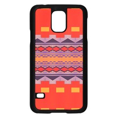 Rhombus Rectangles And Trianglessamsung Galaxy S5 Case (black) by LalyLauraFLM