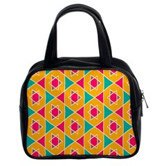 Colorful Stars Pattern Classic Handbag (two Sides) by LalyLauraFLM
