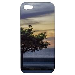 Sunset Scene At Boardwalk In Montevideo Uruguay Apple Iphone 5 Hardshell Case by dflcprints