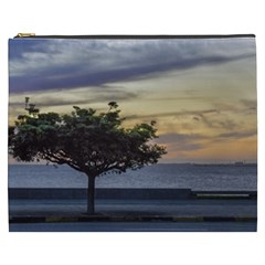Sunset Scene At Boardwalk In Montevideo Uruguay Cosmetic Bag (xxxl)  by dflcprints