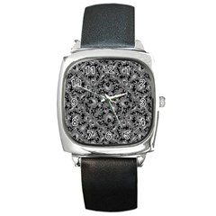 Luxury Patterned Modern Baroque Square Metal Watches by dflcprints