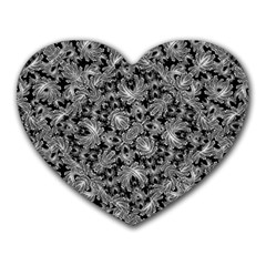Luxury Patterned Modern Baroque Heart Mousepads by dflcprints