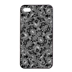 Luxury Patterned Modern Baroque Apple Iphone 4/4s Seamless Case (black) by dflcprints