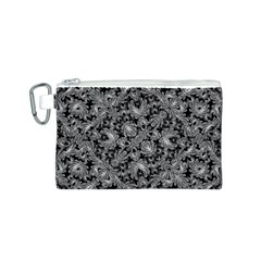 Luxury Patterned Modern Baroque Canvas Cosmetic Bag (s) by dflcprints