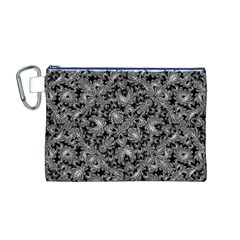 Luxury Patterned Modern Baroque Canvas Cosmetic Bag (m) by dflcprints