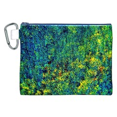 Flowers Abstract Yellow Green Canvas Cosmetic Bag (xxl)  by Costasonlineshop