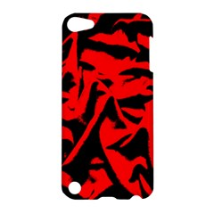 Red Black Retro Pattern Apple iPod Touch 5 Hardshell Case by Costasonlineshop