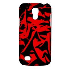 Red Black Retro Pattern Galaxy S4 Mini by Costasonlineshop