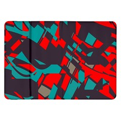 Red Blue Pieces			samsung Galaxy Tab 8 9  P7300 Flip Case by LalyLauraFLM
