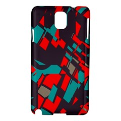 Red Blue Piecessamsung Galaxy Note 3 N9005 Hardshell Case by LalyLauraFLM