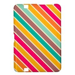 Colorful Diagonal Stripeskindle Fire Hd 8 9  Hardshell Case by LalyLauraFLM