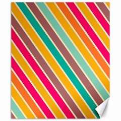 Colorful Diagonal Stripes			canvas 20  X 24  by LalyLauraFLM