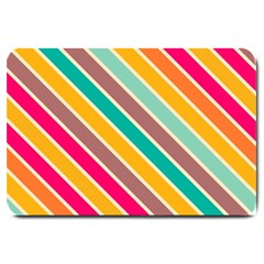 Colorful Diagonal Stripes			large Doormat by LalyLauraFLM