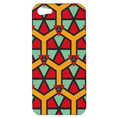 Honeycombs Triangles And Other Shapes Pattern			apple Iphone 5 Hardshell Case by LalyLauraFLM
