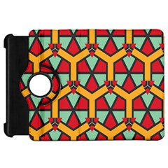 Honeycombs triangles and other shapes pattern			Kindle Fire HD Flip 360 Case by LalyLauraFLM
