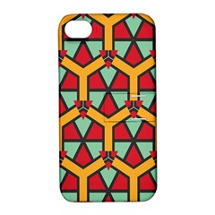 Honeycombs triangles and other shapes patternApple iPhone 4/4S Hardshell Case with Stand by LalyLauraFLM