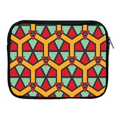 Honeycombs Triangles And Other Shapes Patternapple Ipad 2/3/4 Zipper Case by LalyLauraFLM