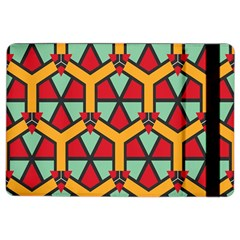 Honeycombs Triangles And Other Shapes Patternapple Ipad Air 2 Flip Case by LalyLauraFLM