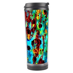Turquoise Blue Green  Painting Pattern Travel Tumblers by Costasonlineshop