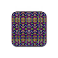 Ethnic Modern Geometric Pattern Rubber Square Coaster (4 Pack)  by dflcprints