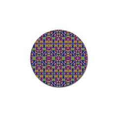 Ethnic Modern Geometric Pattern Golf Ball Marker by dflcprints