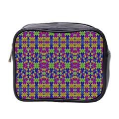 Ethnic Modern Geometric Pattern Mini Toiletries Bag 2 Side by dflcprints