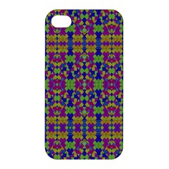 Ethnic Modern Geometric Pattern Apple Iphone 4/4s Premium Hardshell Case by dflcprints