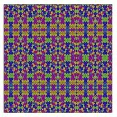 Ethnic Modern Geometric Pattern Large Satin Scarf (square) by dflcprints
