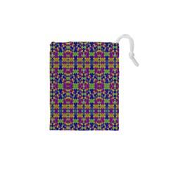 Ethnic Modern Geometric Pattern Drawstring Pouches (xs)  by dflcprints