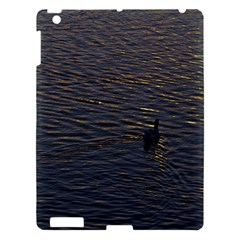 Lonely Duck Swimming At Lake At Sunset Time Apple Ipad 3/4 Hardshell Case by dflcprints