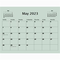 Green Frame Male 2017 Calendar (any Year) By Deborah   Wall Calendar 11  X 8 5  (12 Months)   Q5wert5sd5e8   Www Artscow Com May 2017
