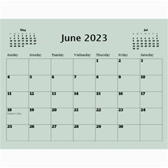 Green Frame Male 2017 Calendar (any Year) By Deborah   Wall Calendar 11  X 8 5  (12 Months)   Q5wert5sd5e8   Www Artscow Com Jun 2017